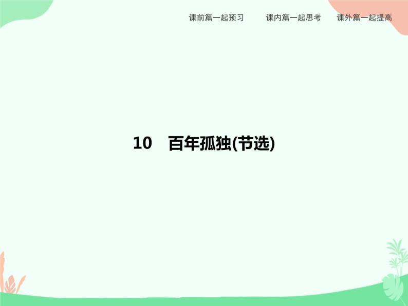 10 百年孤独(节选) PPT课件01